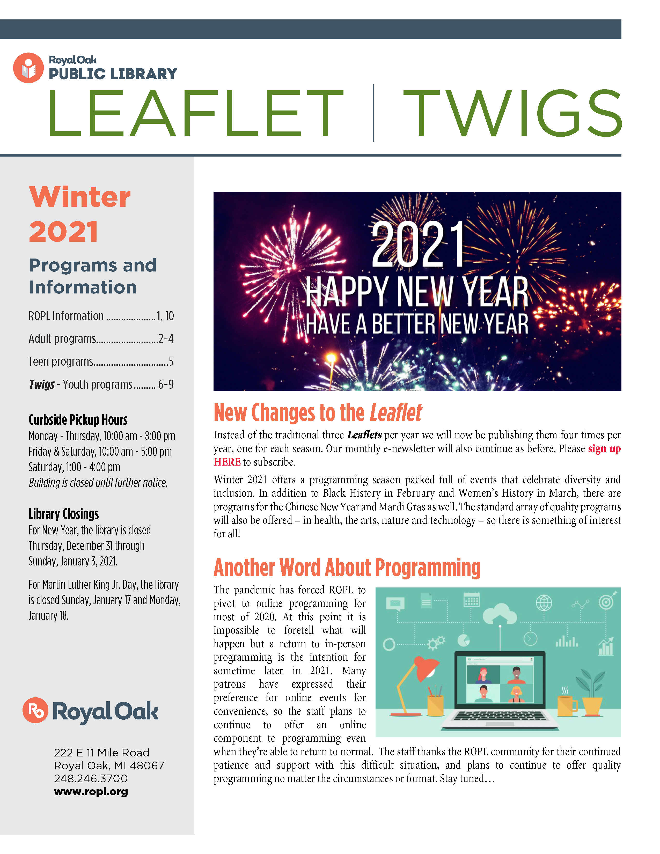 Leaflet Winter 2021