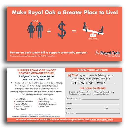 donate through your water bill royal oak mi