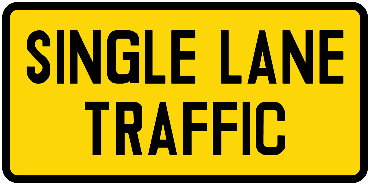 single lane traffic