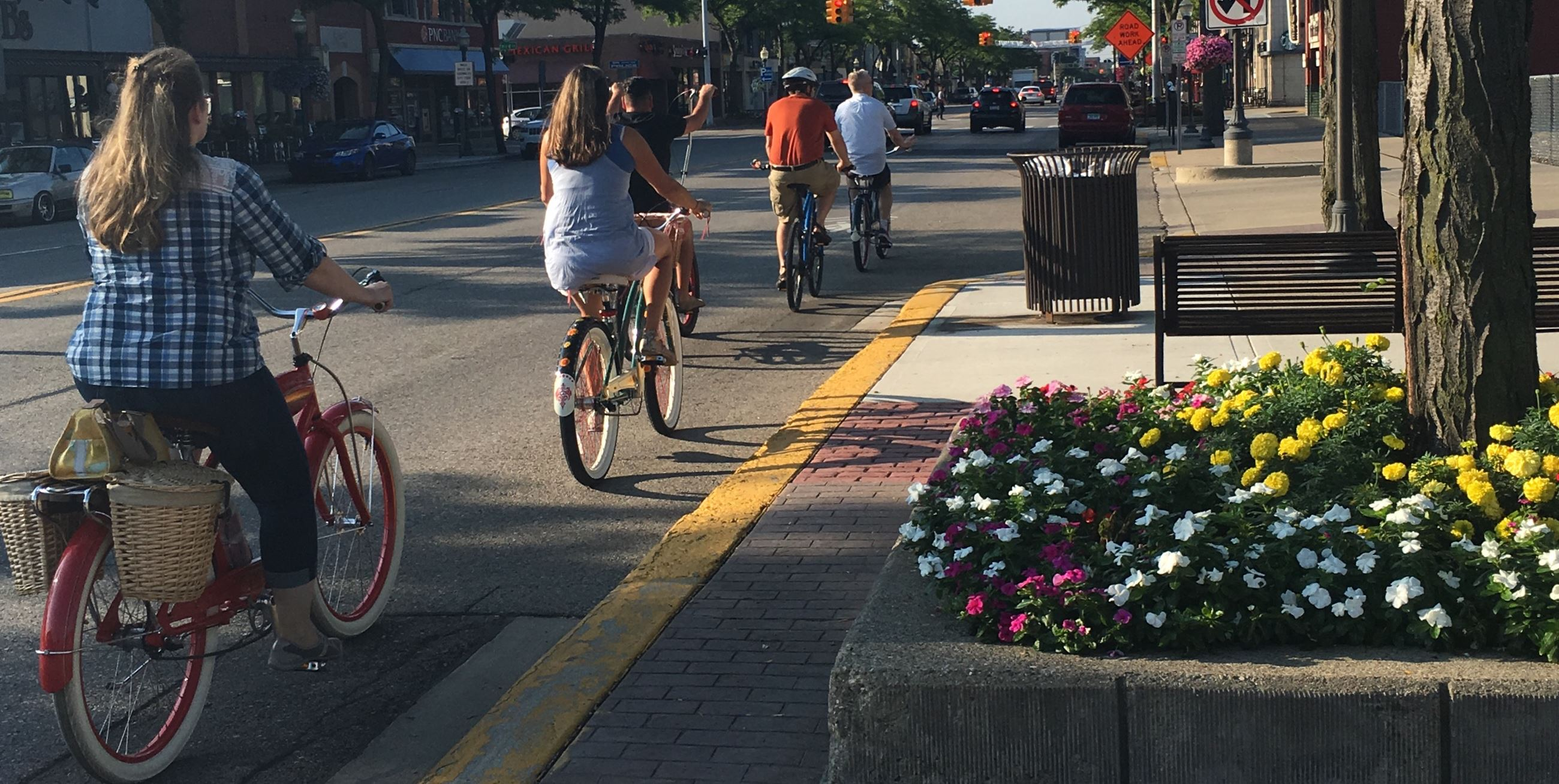Biking in Royal Oak
